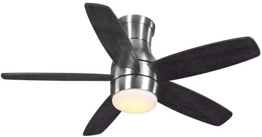 Home Decorators Collection Ashby Park 52 in. Integrated LED Brushed Nickel Ceiling Fan.