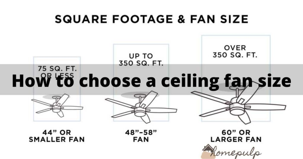 How to choose a ceiling fan size?