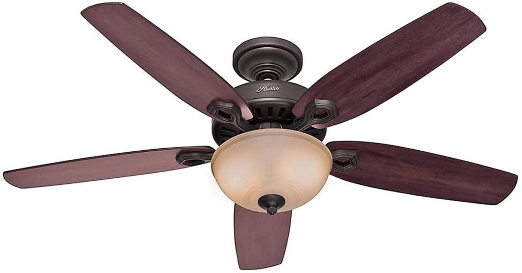 Hunter Builder Deluxe Indoor Ceiling Fan with LED Light