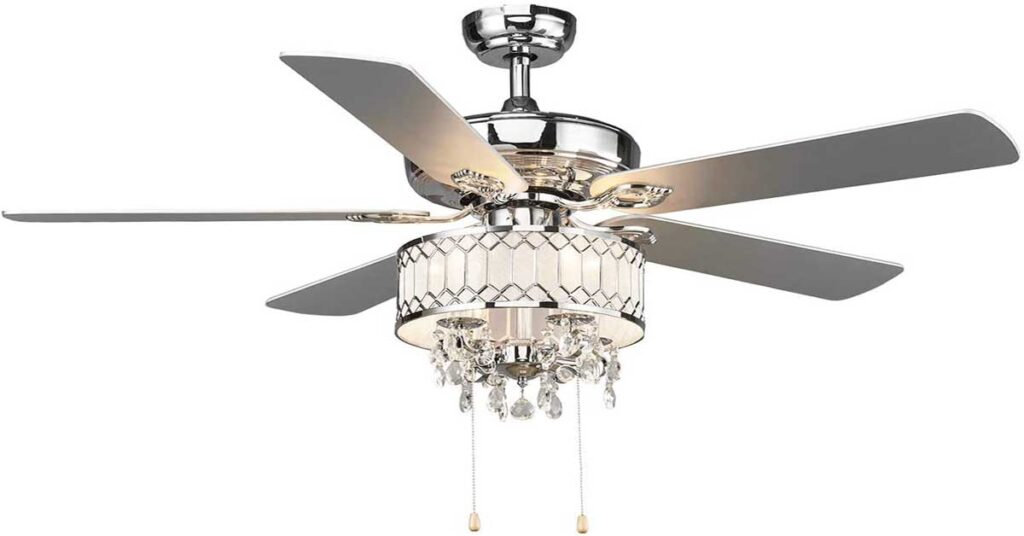 """5. Tangkula 52"""" Crystal Ceiling Fan with Lights   luxury ceiling fans   chandelier ceiling fan light kit amazon"""