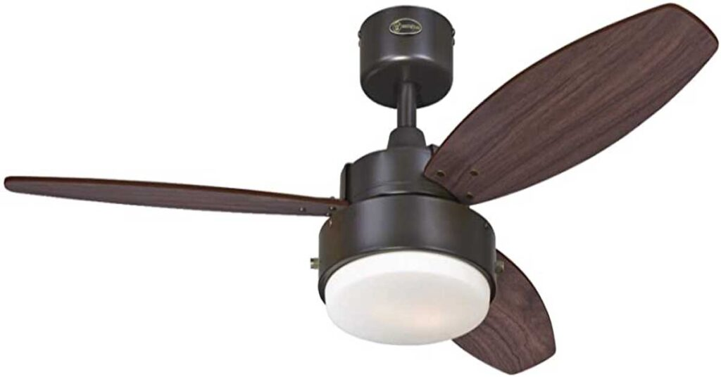 Westinghouse Lighting 7201900 Alloy Indoor Ceiling Fan with Light.