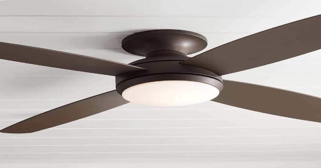 """52"""" Casa Elite Modern Hugger Low Profile Indoor Ceiling Fans for 7 foot ceilings with Light."""