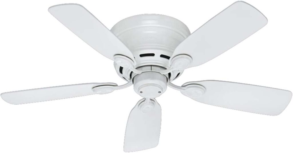Hunter Fan Company 51059 Hunter Indoor Low Profile IV Ceiling Fans for 7 foot ceilings.