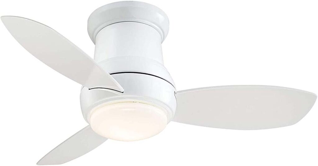 """Minka-Aire F518L-WH, Concept II LED White Flush Mount 44"""" Ceiling Fans for 7 foot ceilings."""