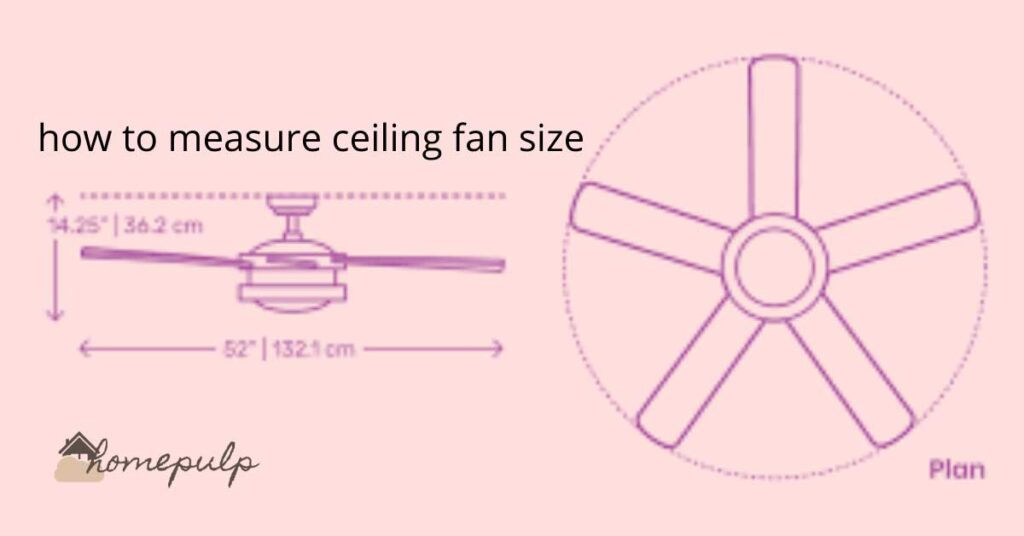 how to measure ceiling fan size?