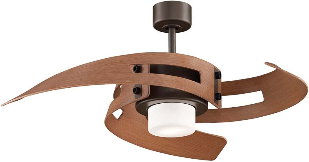 Fanimation ceiling fans with Light Kit and Remote.